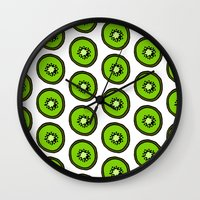 kiwi Wall Clocks featuring KIWI by Clove