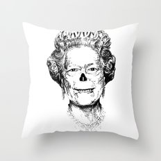 The Warming Dead! The Queen. Throw Pillow