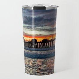 Huntington Beach Sunset  1/26/14 Travel Mug