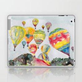 Hot air balloons flying Laptop & iPad Skin
