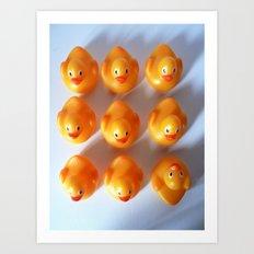 Rubber Ducks in a Row Art Print
