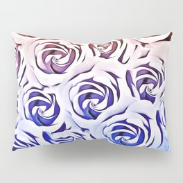 rose pattern texture abstract background in pink and blue Pillow Sham
