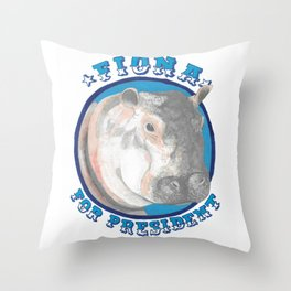Fiona for President Throw Pillow