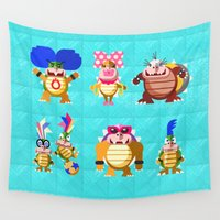 iggy Wall Tapestries featuring Koopalings! by Pizza! Pizza! Pizza!