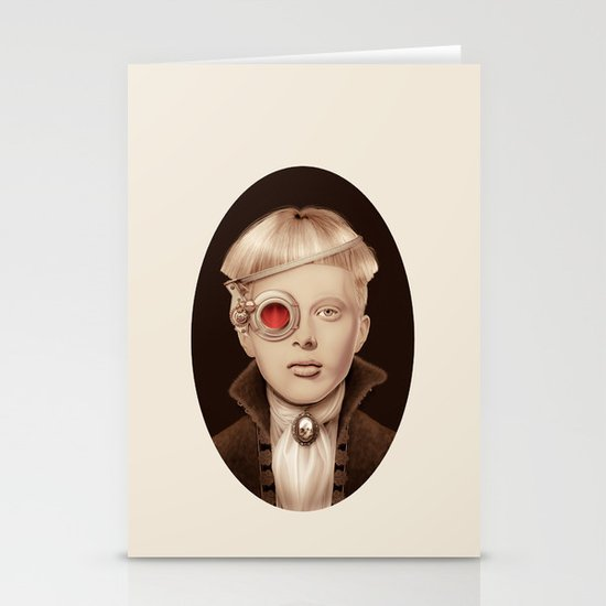"""Steampunk"" Stationery Cards"