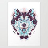 husky Art Prints featuring husky by yoaz