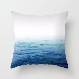 Calm Blue Ocean Throw Pillow