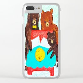 Goldilocks and the Three Bears Clear iPhone Case