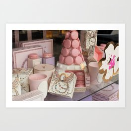 Pink macarons at Laduree Paris Art Print