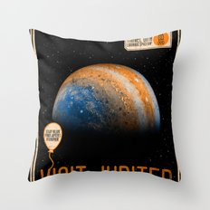 Visit Jupiter Throw Pillow