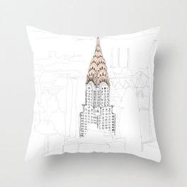 Chrysler Building Throw Pillow