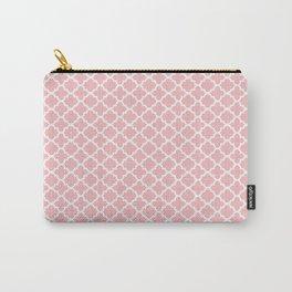 Blush Pink Quatrefoil Carry-All Pouch