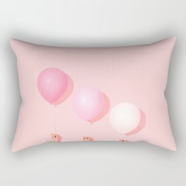 Three balloons in blush Rectangular Pillow