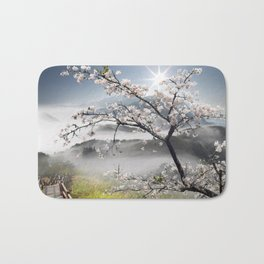 Japanese Cherry Landscape Bath Mat
