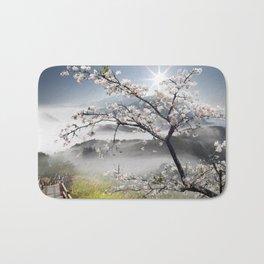 Japanese Cherry Landscape Bath Mat