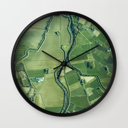 The Aerial View (Color) Wall Clock