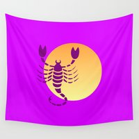 scorpio Wall Tapestries featuring Scorpio by Geni