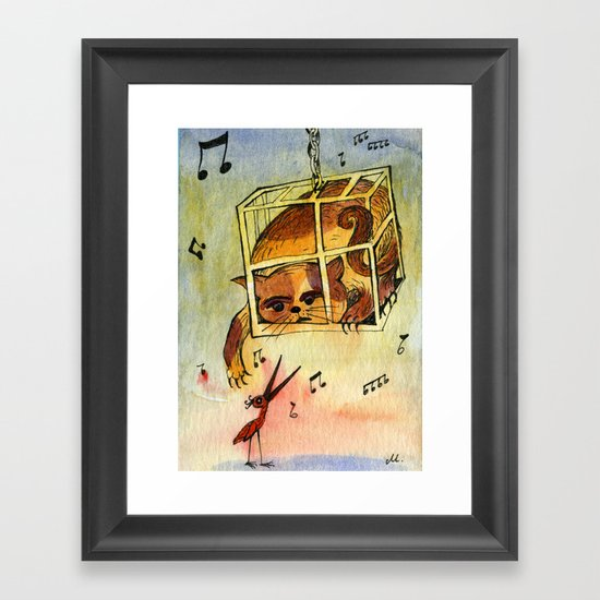 Annoying situation Framed Art Print