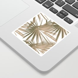 Brown on White Tropical Vibes Beach Palmtree Vector Sticker
