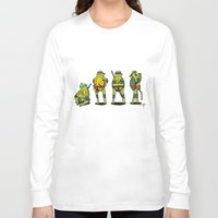 teenage mutant ninja turtles Long Sleeve T-shirts featuring Teenage mutant ninja turtles by Nioko