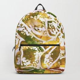 Golden Succulent Flower Backpack