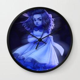 Ghost Girl (#Drawlloween2016 Series) Wall Clock