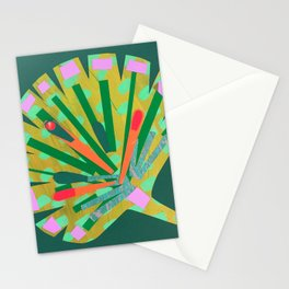 Fan Leaf in Green Stationery Cards