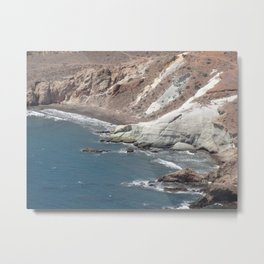 sea cliffs Metal Print
