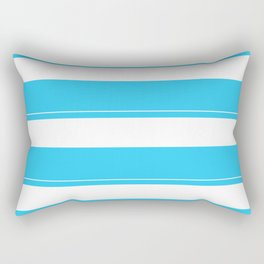 Aqua Teal- Maritime Aqua Teal Stripes Pattern - Mix & Match Rectangular Pillow
