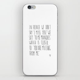 French Miss You iPhone Skin