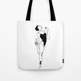 Ballerina with Elegance Tote Bag