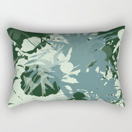tropical silhouette with orchids and palms tonal Rectangular Pillow