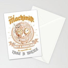Awesome Machinist Clockwork Steampunk Machine Operator Stationery Cards