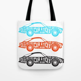 A Fast Sport Car Tote Bag