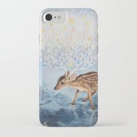 antlers iPhone & iPod Cases featuring Antlers by Lucy Yu { Artwork }