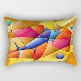 Perissia - colourful fossil Rectangular Pillow