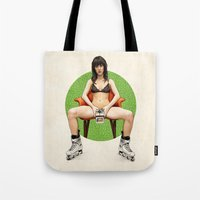 minnesota Tote Bags featuring Miss Minnesota by keith p. rein