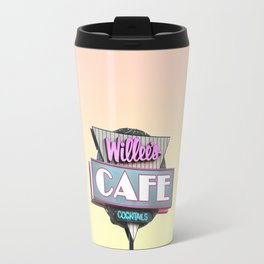 Willees Cafe and Cocktails Neon Sign Travel Mug