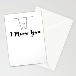 I Meow You Cat Stationery Cards
