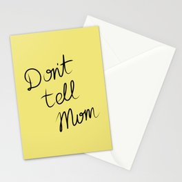 Oopsie - Don't Tell Mom Stationery Cards