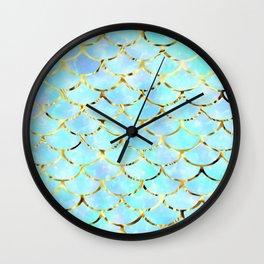 Mythical Mermaid- blues Wall Clock