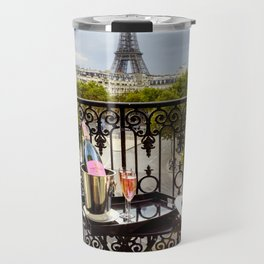 Eiffel Tower Paris Balcony View Travel Mug