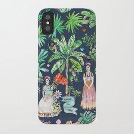 Frida Kahlo Botanics - Carbon Grey iPhone Case