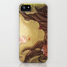 Catching the rabbit iPhone Case