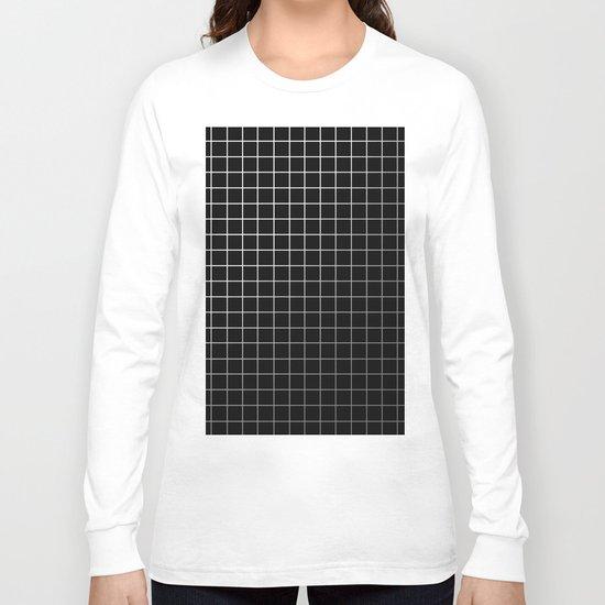 Metal Cage - Industrial, metallic grid pattern Long Sleeve T-shirt