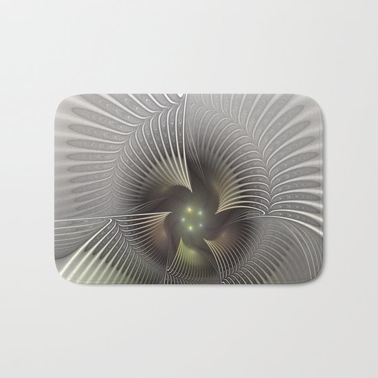 Stand Up, Abstract Fractal Art Bath Mat