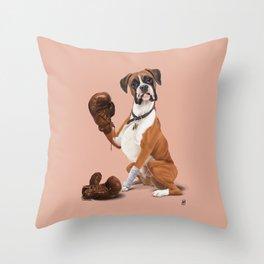 The Boxer (colour) Throw Pillow