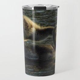 Gosling Pair in River Travel Mug