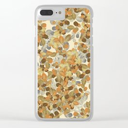 Leaves Autumm Clear iPhone Case