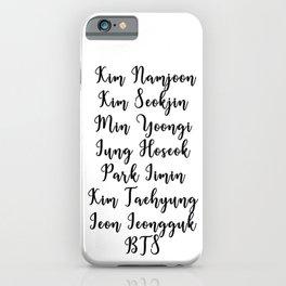 BTS Fanchant iPhone Case